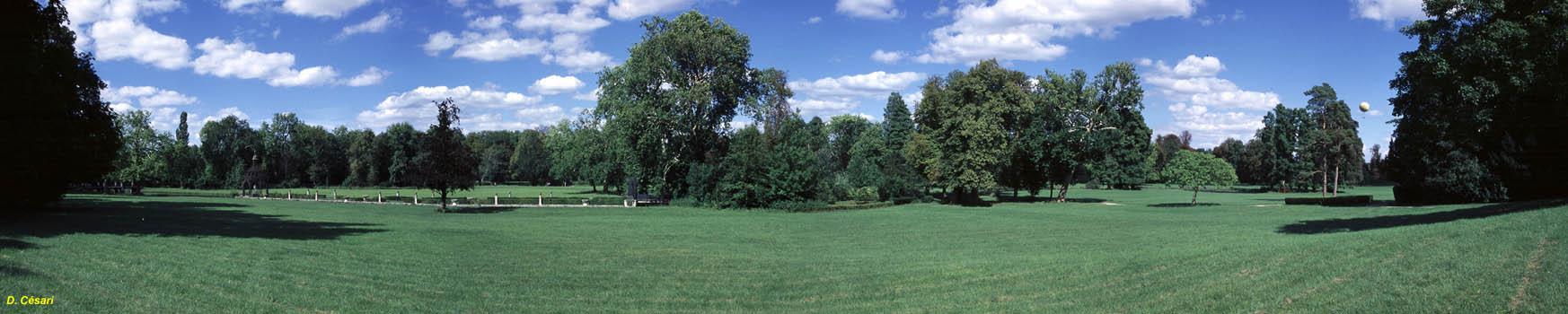 Chantilly historique plan vues du parc for Jardin anglais chantilly