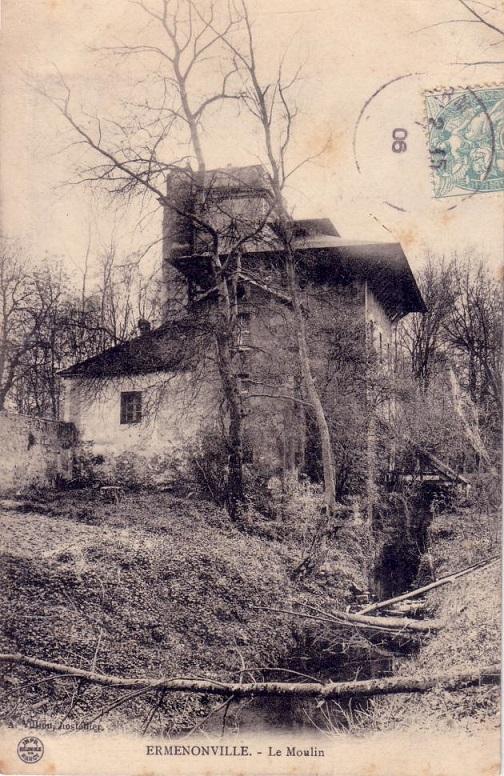 Cartes postales anciennes de parcs fabriques ermenonville La table italienne senlis